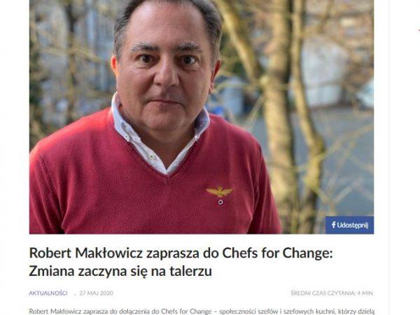 Poradnikrestauratora.pl o Chefs for Change
